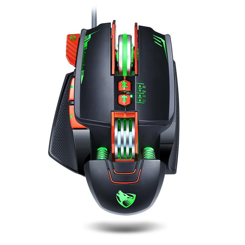 LEILANG Chuột vi tính Chuột chơi game cơ học xuyên biên giới Thunder Wolf V9 dành cho máy tính xách