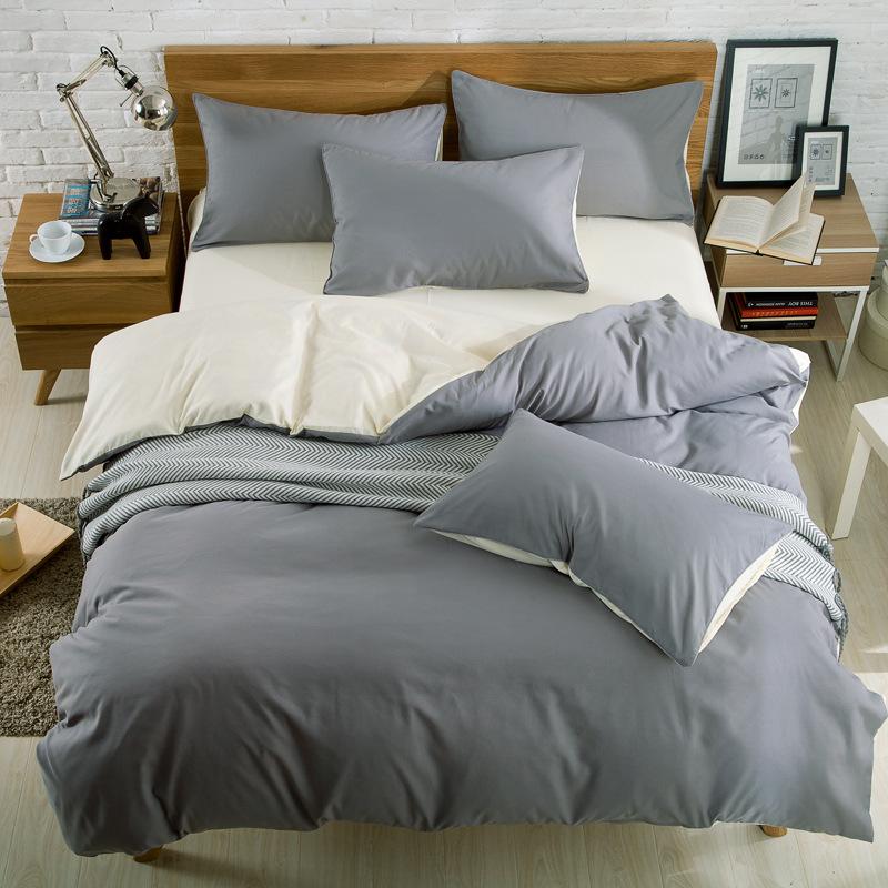 drap mền Bốn bộ chăn bông dày khâu đôi dày trên giường ngủ ký túc xá sinh viên mùa hè cung cấp nhà d