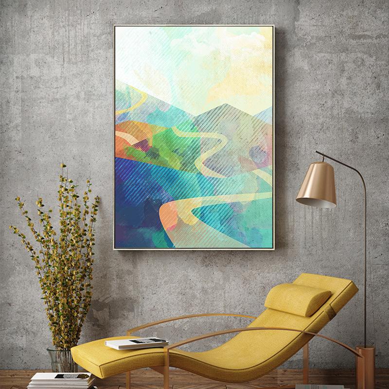 Tranh trang trí Xuanguan bức tranh trừu tượng phòng khách ánh sáng sang trọng trang trí bức tranh hi