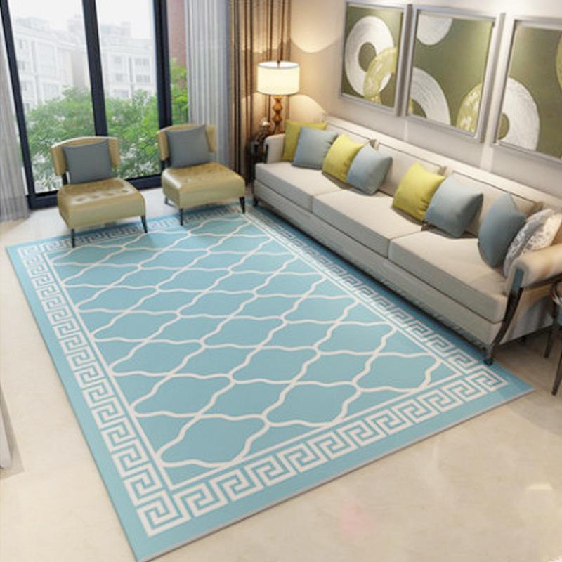 YONGKANG thảm lót Thảm hình học hiện đại đơn giản Phòng khách bàn cà phê phòng ngủ nhà nghiên cứu th