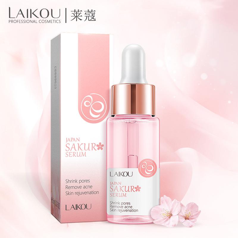 LAIKOU Essence Laiwu Nhật Bản Cherry Blossom Essence 15ml Moisturising Hydrating Moisturising Firmin