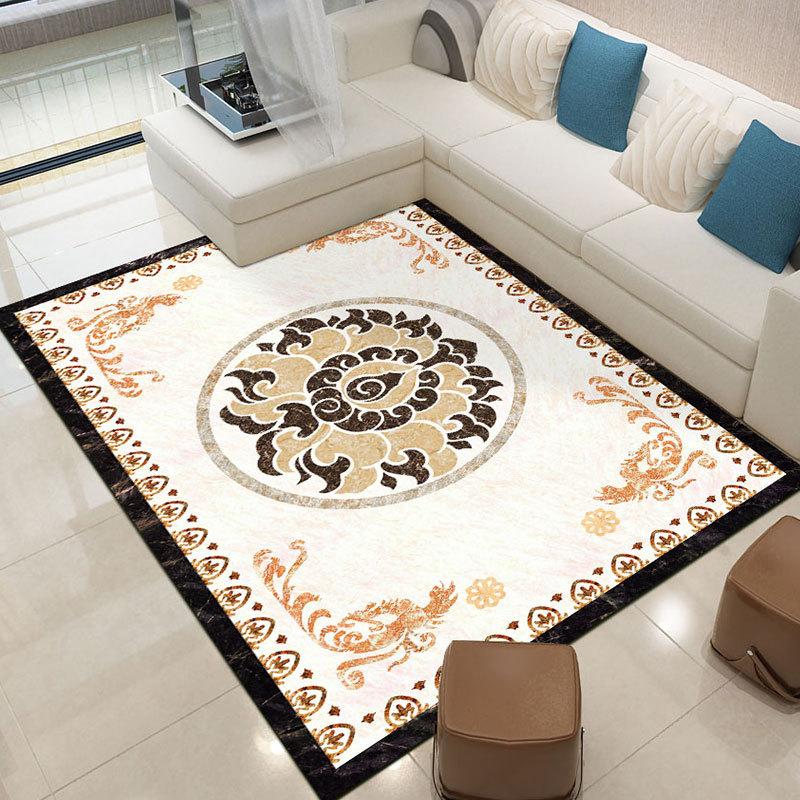 SHENGRUIXIANG thảm lót Nhà sản xuất cung cấp ánh sáng sang trọng phong cách cẩm thạch bàn trà thảm h