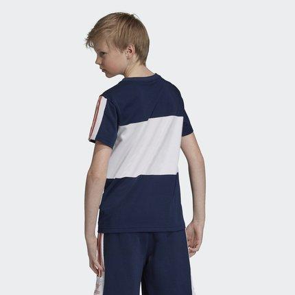 Thị trường trang phục trẻ em  Adidas chính thức Adidas clover áo thun ngoại cỡ TEE cho bé trai tay n