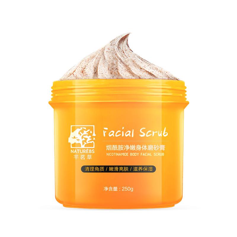 QIANMINGCAO Kem tẩy tế bào chết Go Chicken Skin Keratin Scrub Cleansing Body Massage Cream Giữ ẩm và