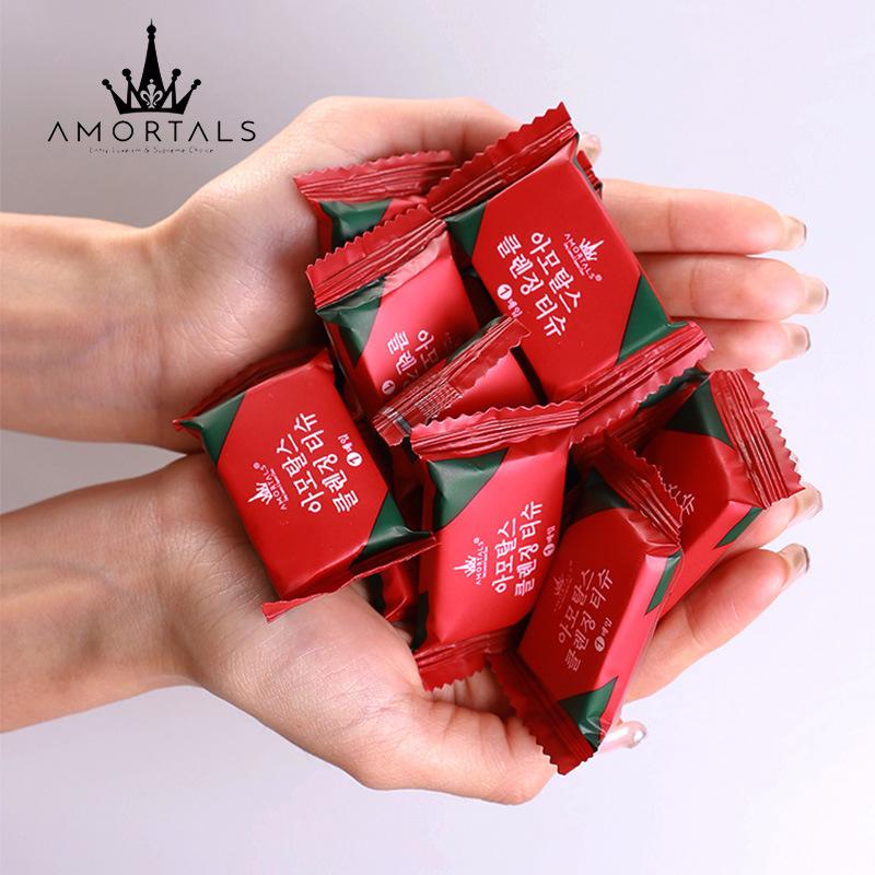 AMORTALS Khăn nén Hàn Quốc AMORTALS ermu khăn nén dùng một lần làm sạch khăn mặt khăn đỏ du lịch cầm