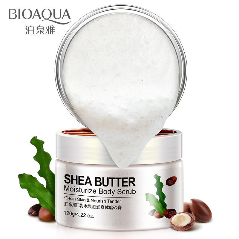 BIOAOUA Kem tẩy tế bào chết Boquan Ya Cucumber Hydrating Body Scrub Tẩy tế bào chết Lotion Làm sạch