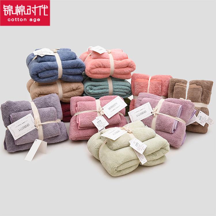 JINMIAN Khăn tắm Dày Nhật Bản lông cừu san hô quà tặng khăn tắm thiết lập tùy chỉnh LOGO lông cừu sa