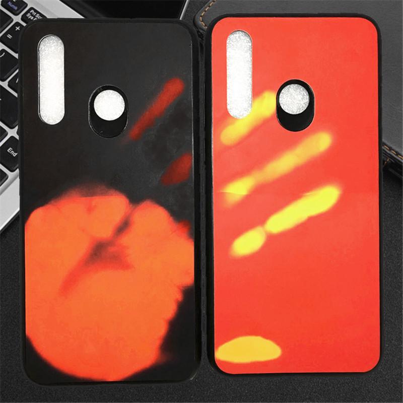 bao da điện thoại Ốp lưng Huawei p30 mới vỏ cảm ứng nhiệt màu vinh quang 20 bộ điện thoại di động ma