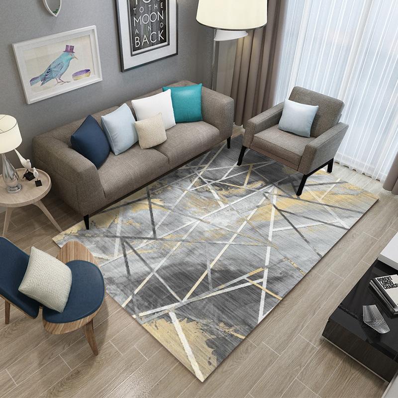 LIJI thảm lót Xuyên biên giới Bắc Âu trừu tượng thảm sàn phòng khách thảm hiện đại đơn giản châu Âu