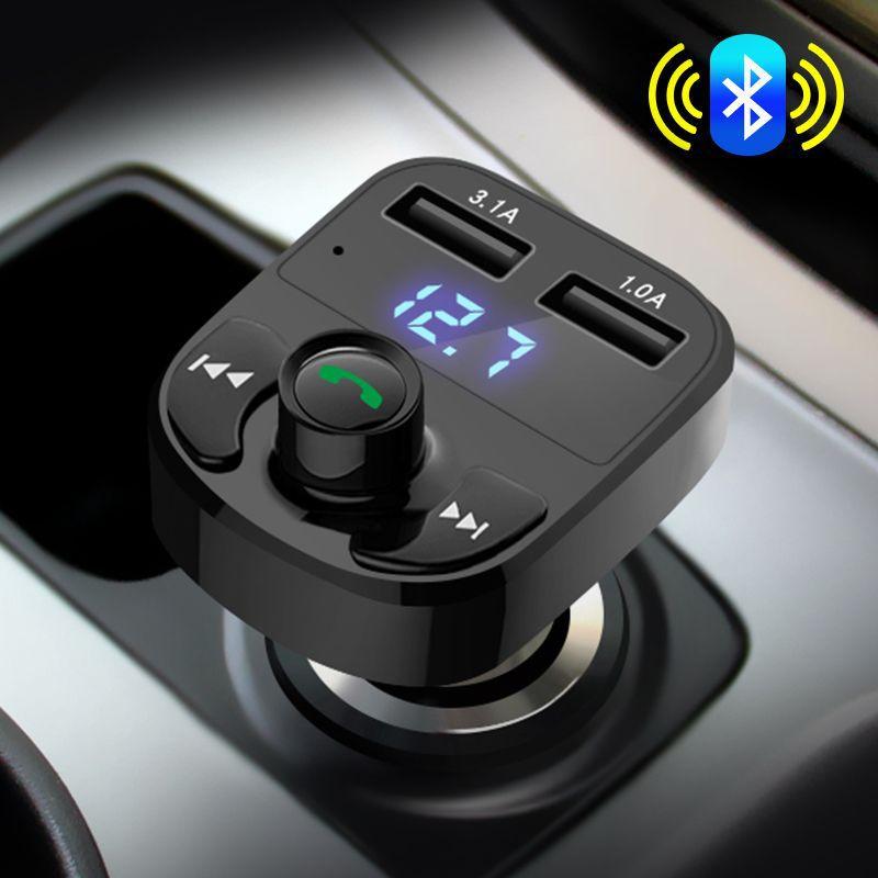 ANMU Đầu cắm sạc xe hơi Xe gỗ gỗ mp3 hiện đại xe mới Bluetooth xe hơi sạc xe hơi USB kép xe hơi 24V
