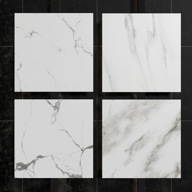 HENGZHI Đá hoa cương Gạch lát sàn phòng khách 600x600 jazz trắng giả đá cẩm thạch nền gạch ốp tường