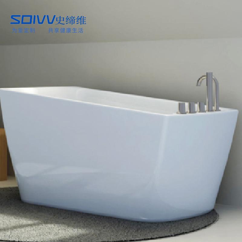 SDIVV Bồn đứng tắm Nhà sản xuất cung cấp bồn tắm acrylic hình bầu dục độc lập hiện đại SS-121916