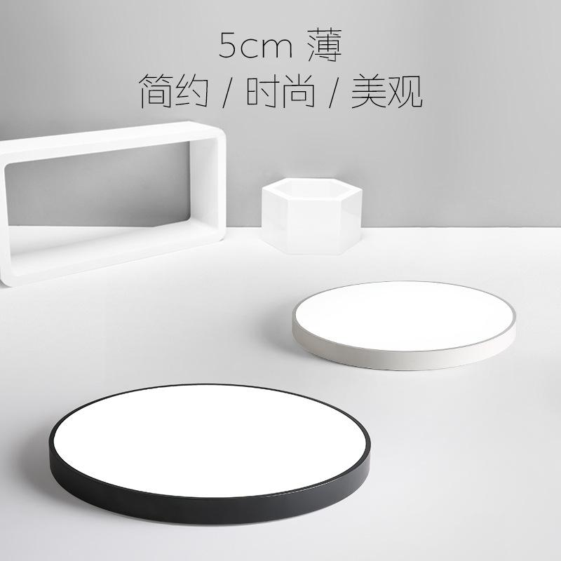 đèn ốp trần Đèn chùm trần phòng khách siêu mỏng Bắc Âu Macaron LED tròn đèn trần hiện đại tối giản đ