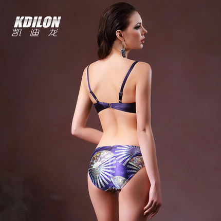 chống thấm nước  Kdilon Kaidilong bikini bikini váy bơi gợi cảm là bộ bốn mảnh mỏng của ba ngực nhỏ