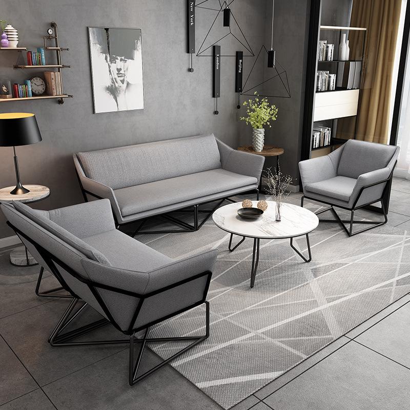Ghế Sofa Bắc Âu vải lười sofa phòng khách sáng tạo ngồi có thể ngả giải trí văn phòng kết hợp sofa s