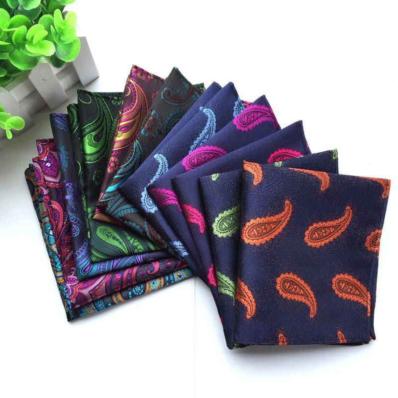 Khăn tay nam vuông 2019 chất liệu polyester thời trang hoang dã phù hợp với túi khăn váy vuông