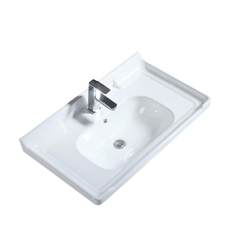 LAIJIAN Bồn rửa mặt Gạch trên lưu vực truy cập một nửa chậu rửa phòng tắm tích hợp giữa lưu vực phòn
