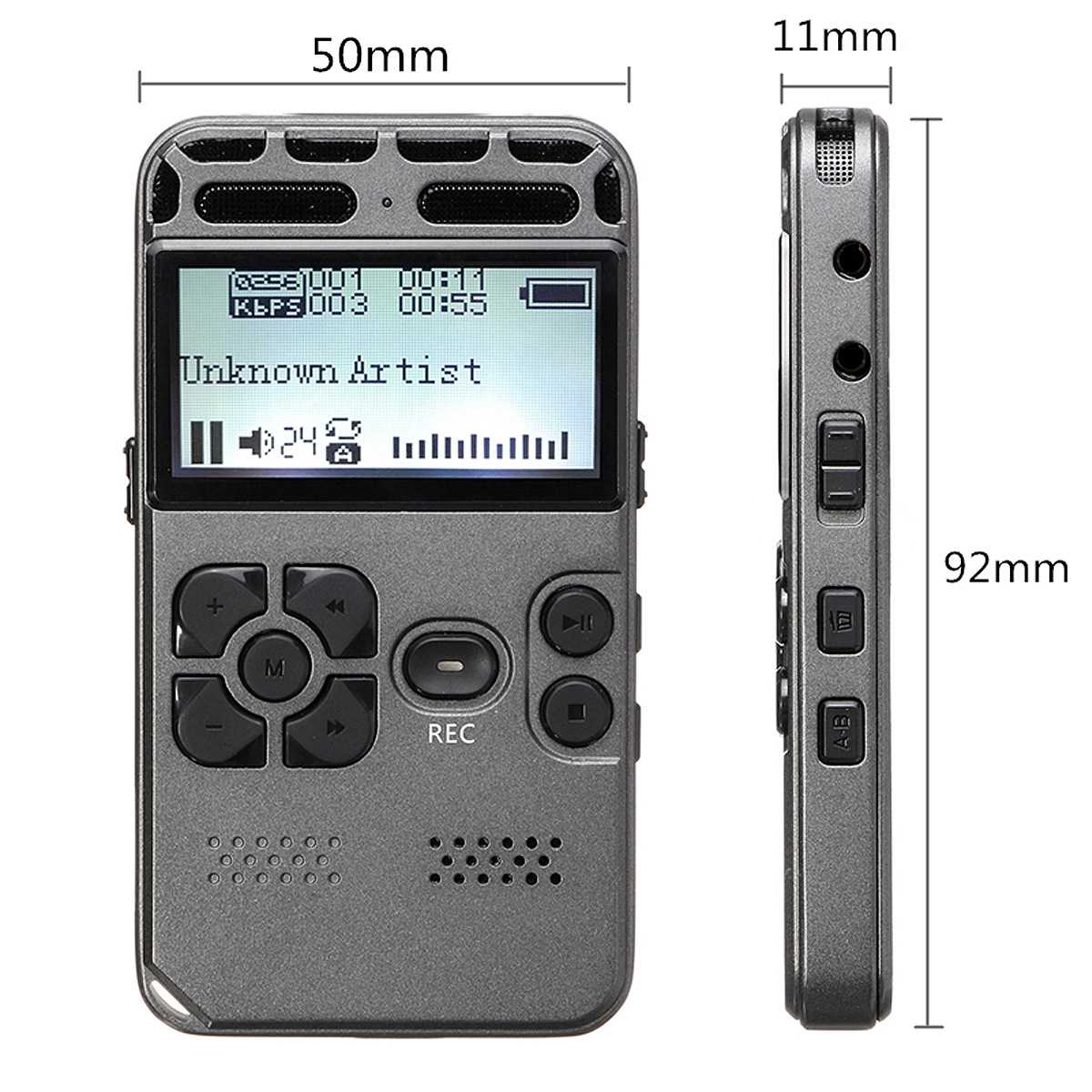 Máy ghi âm Màn hình LCD HD giảm nhiễu thông minh Máy ghi âm kỹ thuật số chuyên nghiệp 8GB