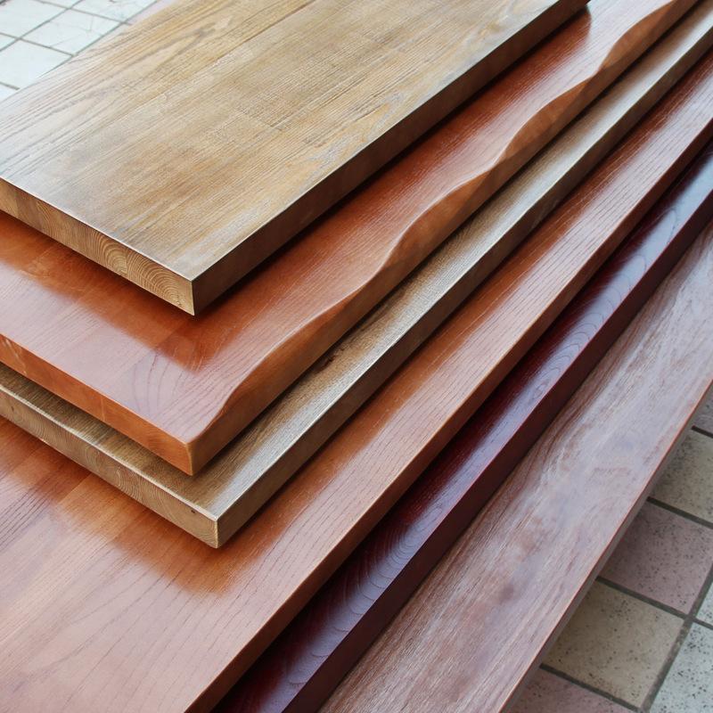 DOURENAO Ván gỗ Elm gỗ tấm tùy chỉnh bảng gỗ rắn bảng điều khiển DIY hình chữ nhật dài gỗ dày có thể