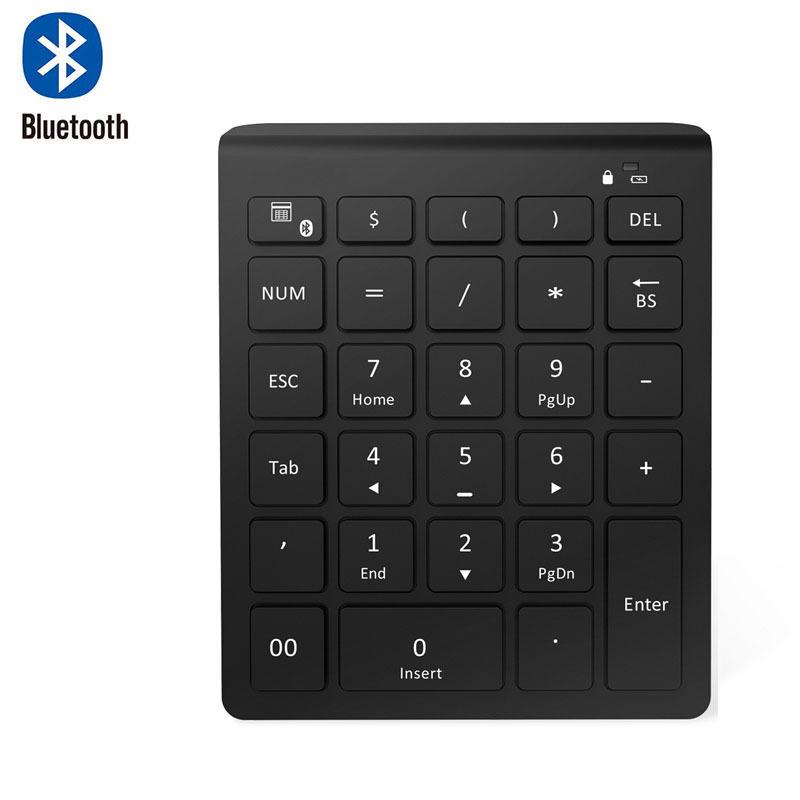 ZHONGXING Bàn phím kỹ thuật số Bluetooth 2.4G bàn phím số 28 bàn phím siêu mỏng không dây văn phòng