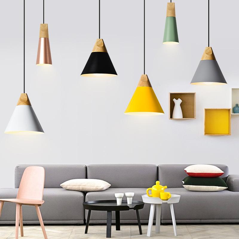 Đèn treo trần Bắc Âu hiện đại tối giản thiết kế Đan Mạch nhà hàng quầy bar bàn cà phê cửa hàng cá tí