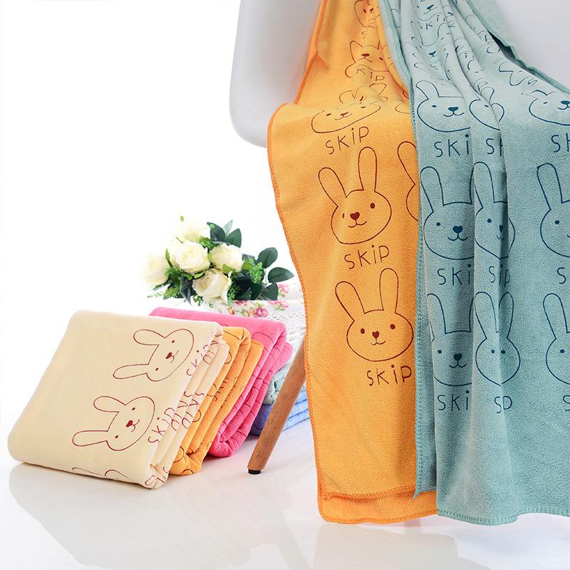 JINYU Khăn bãi cát Khăn tắm sợi nhỏ cho trẻ em hoạt hình Khăn tắm biển 70 * 140 khăn tắm thấm nước n