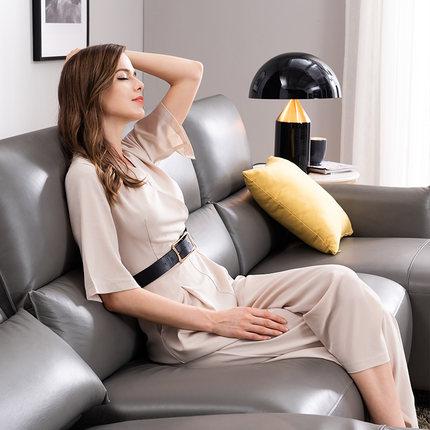 Ghế Sofa CHEERS Chihuahua Ý phong cách sang trọng tối giản da tối giản Sofa phòng khách Bắc Âu đơn g