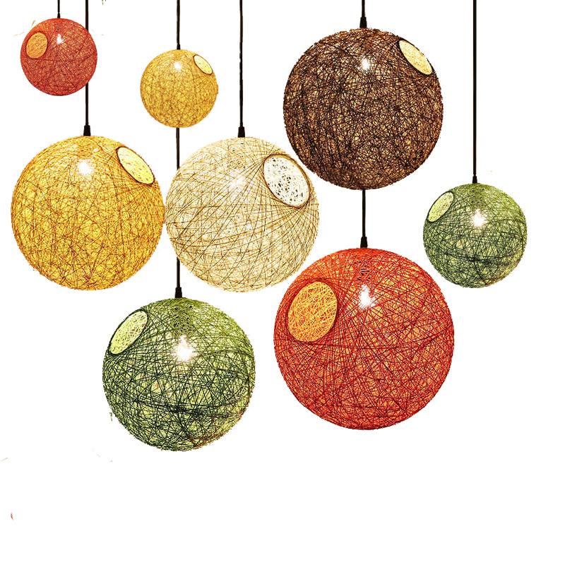 ANMEILE Đèn treo trần Bán buôn đèn nhiều màu bóng bàn Bar dệt tổ đèn chùm ăn uống Đèn chùm tròn tron