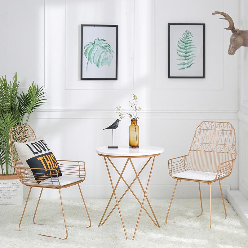 ZHONGXIN thị trường nội thất , đèn Bắc Âu thời trang dây ghế ăn Đơn giản rỗng dây ghế phòng khách đồ