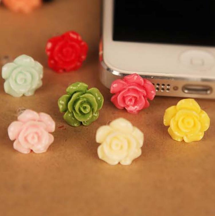 Nút cắm chống bụi Bông tai bụi hoa hồng IB19 Cắm tai nghe stereo Camellia 3,5 mm