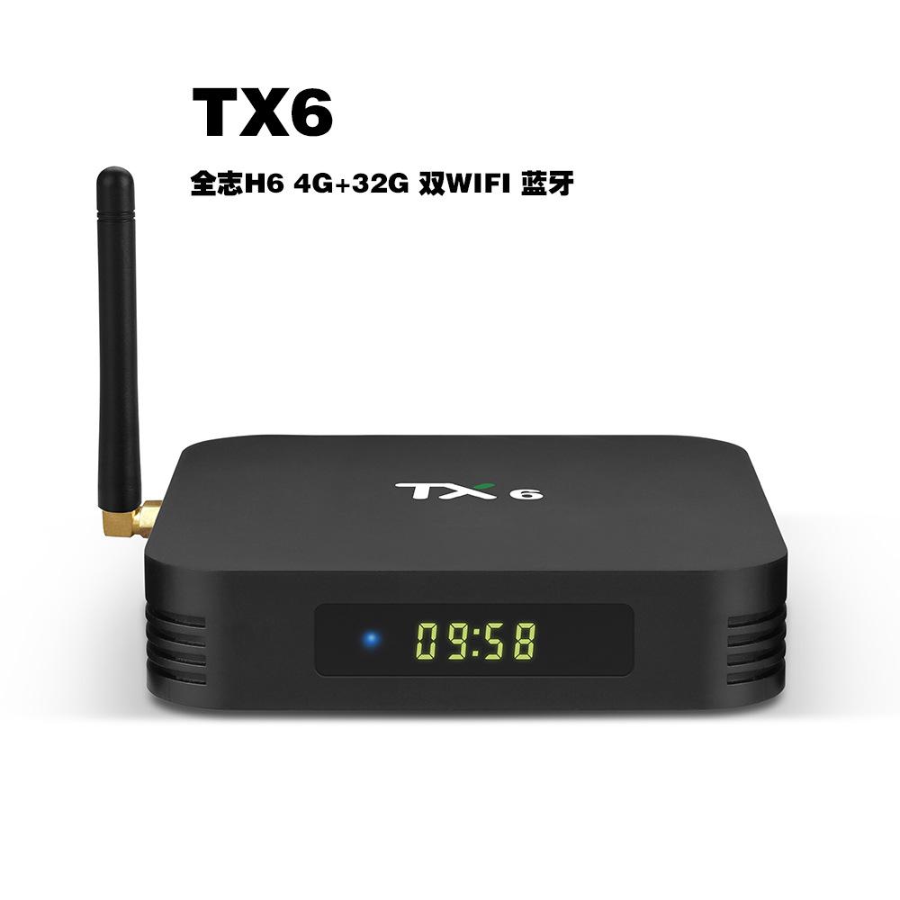 ZHONGXING Thiết bị kết nối Internet cho TV hộp set-top mới TX6 Trình phát mạng Android 7