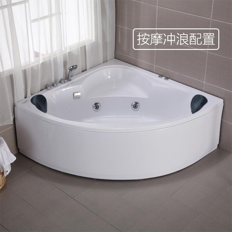 Bồn đứng tắm Bồn tắm tam giác Scallop Bồn tắm acrylic dành cho người lớn dành cho người lớn đôi
