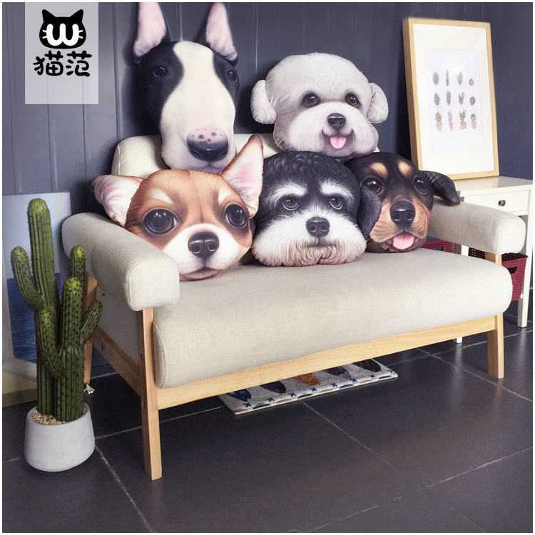 X-dolls gối ôm Dog gối 3d in sáng tạo gối động vật sofa đệm sáng tạo đồ chơi anime gối mèo sản xuất