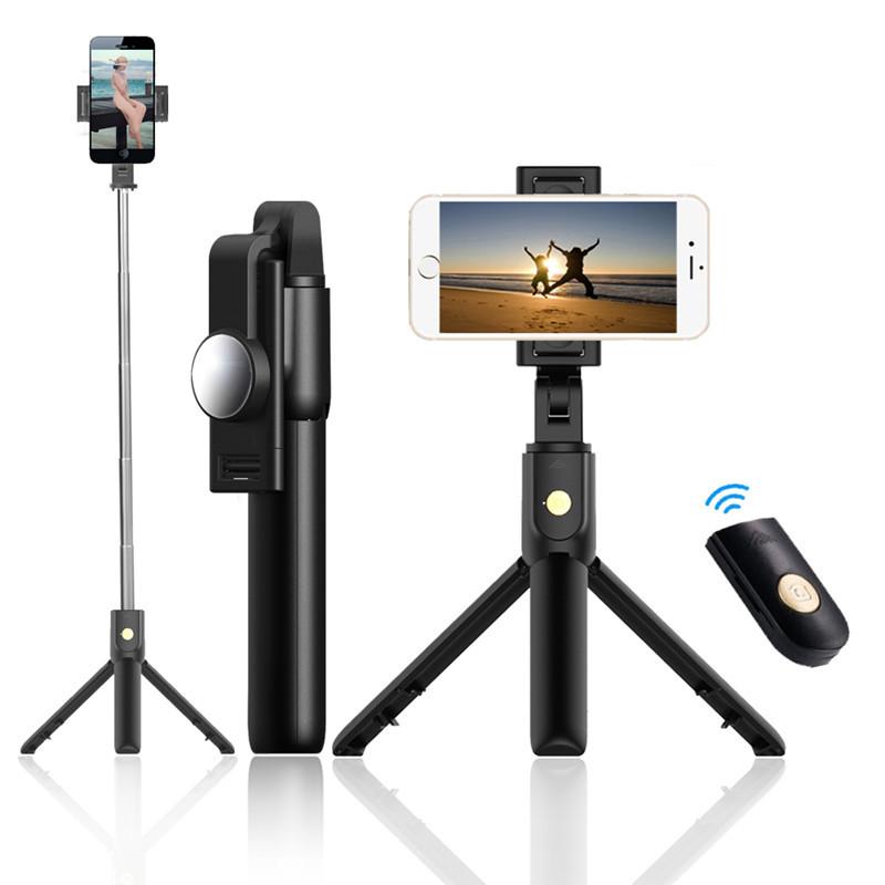 Gây tự sướng K10 Chân máy Selfie Stick Tích hợp Chân đế di động Điện thoại ngang Bluetooth Bluetooth