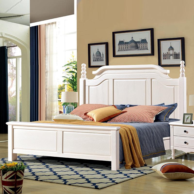 ZHONGBO giường Nhà máy bán buôn trực tiếp có thể là giường gỗ nguyên khối Giường Mỹ gỗ rắn 1,8 / 1,5