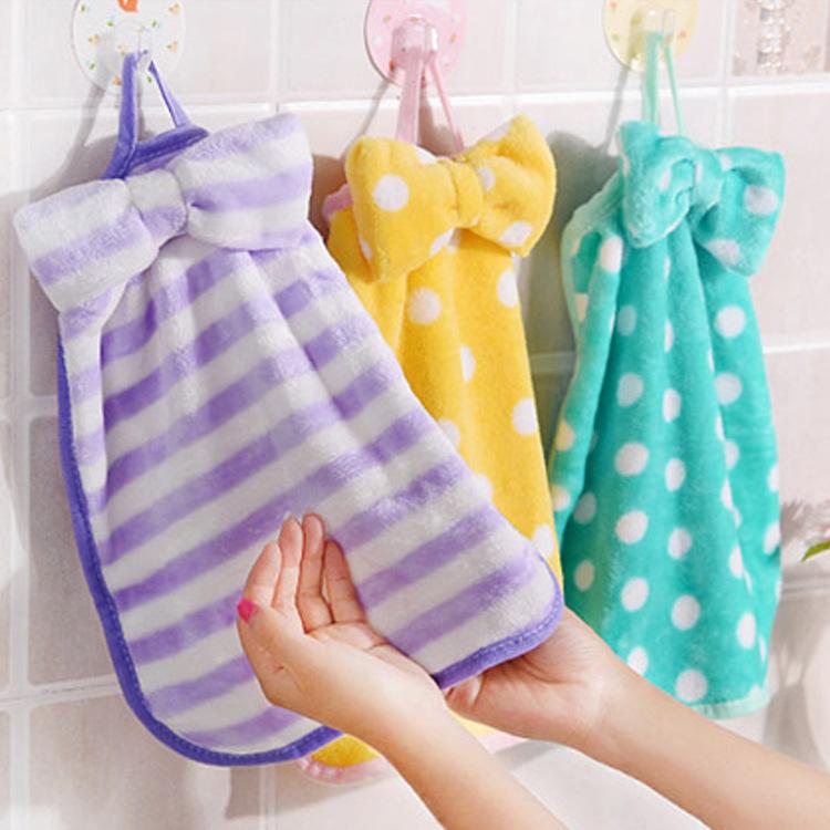 OUTUOU khăn lau tay Nhà máy trực tiếp khăn tay thắt nơ nhà bếp mạnh mẽ thấm nước khăn không có khăn