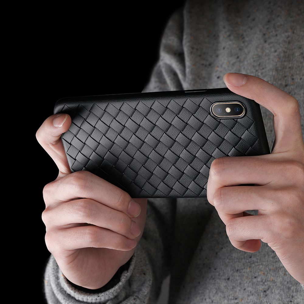 bao da điện thoại Áp dụng cho Apple 6p / 7p / xr / xs mẫu dệt vỏ điện thoại di động bảo vệ tay áo là