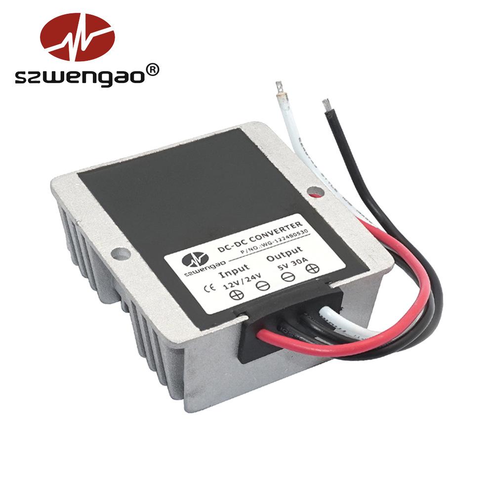 SZWENGAO Sạc biến tần xe hơi Đèn led xe ô tô 12V đến 5V 30A 24 V 5V cung cấp điện hiển thị 8-36V đến