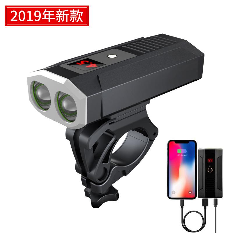 MANGELEYES Đèn xe đạp mới đèn pha usb sạc cưỡi núi đèn chói xe đèn điện sạc điện thoại di động
