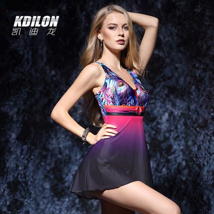 chống thấm nước  kdilon Kaidilong áo tắm màu tím gợi cảm một mảnh váy tắm mùa xuân nóng bỏng tập hợp