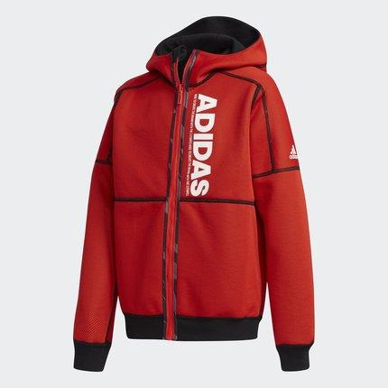 Thị trường trang phục trẻ em  Adidas chính thức YB REV KNIT JK trẻ em lớn đào tạo áo khoác dệt DW408