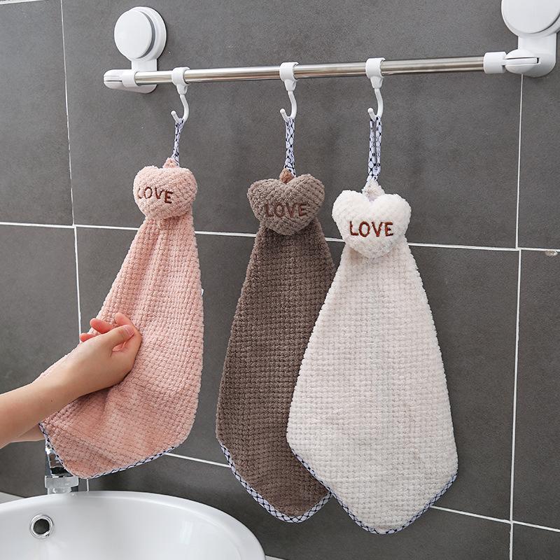 XINYOU khăn lau tay Khăn treo, khăn lau tay dễ thương, hộ gia đình, không dễ rụng tóc, bếp, phòng tắ