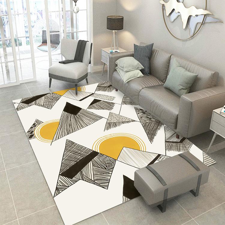 thảm lót Bắc Âu in 3D và nhuộm thảm phòng khách phòng ngủ nhà thảm bàn cà phê mat đầu giường hiên