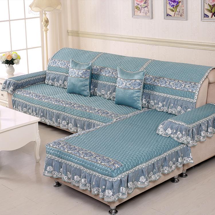 YIMICAO Đệm lót SoFa Sofa cao cấp theo phong cách châu Âu mùa hè đệm chống trượt sofa da bọc vải sof