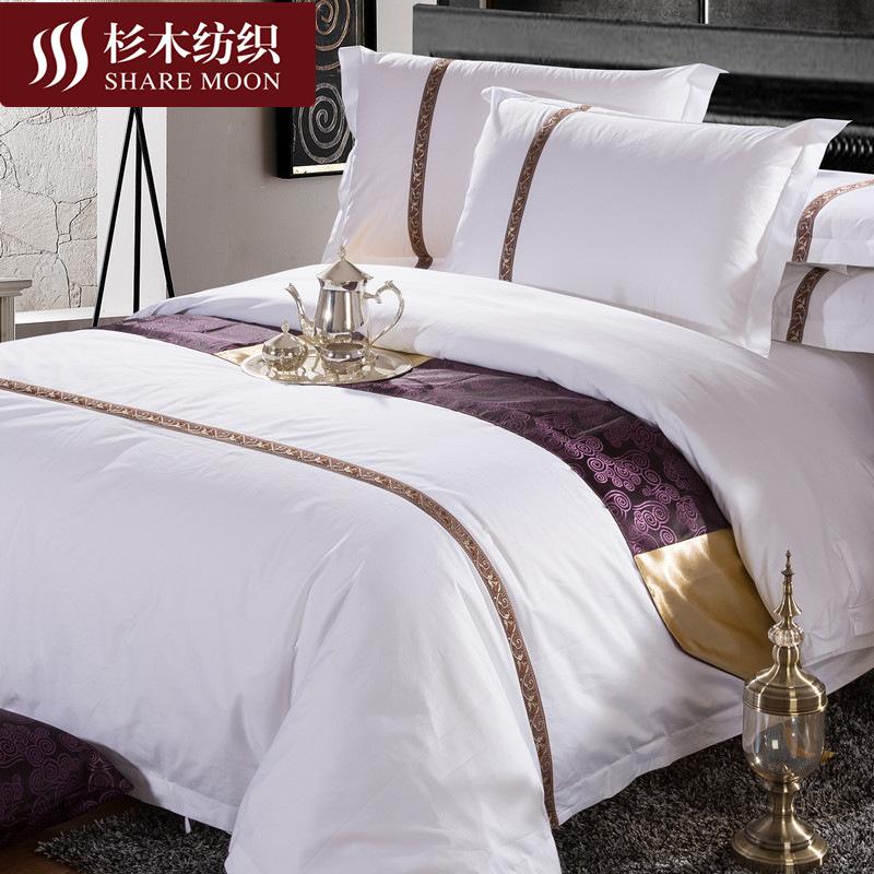 Thị trường đồ bộ Khách sạn bốn mảnh khách sạn cotton khách sạn bộ đồ giường bằng vải lanh và phòng ă