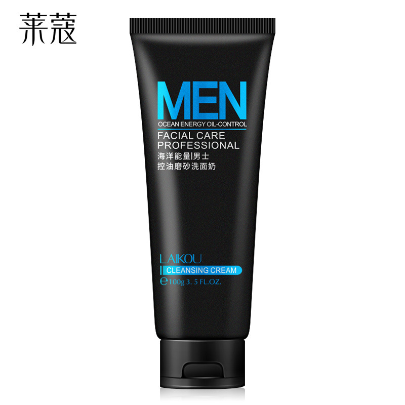 LAIKOU Sữa rửa mặt Laiwu Men Oil Control Scrub Cleanser Giữ ẩm cho da mặt