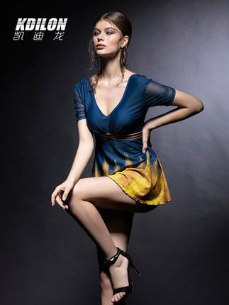 chống thấm nước  kdilon Kaidilong mới áo tắm một mảnh áo tắm nữ cảm giác chống nắng retro bảo thủ ch