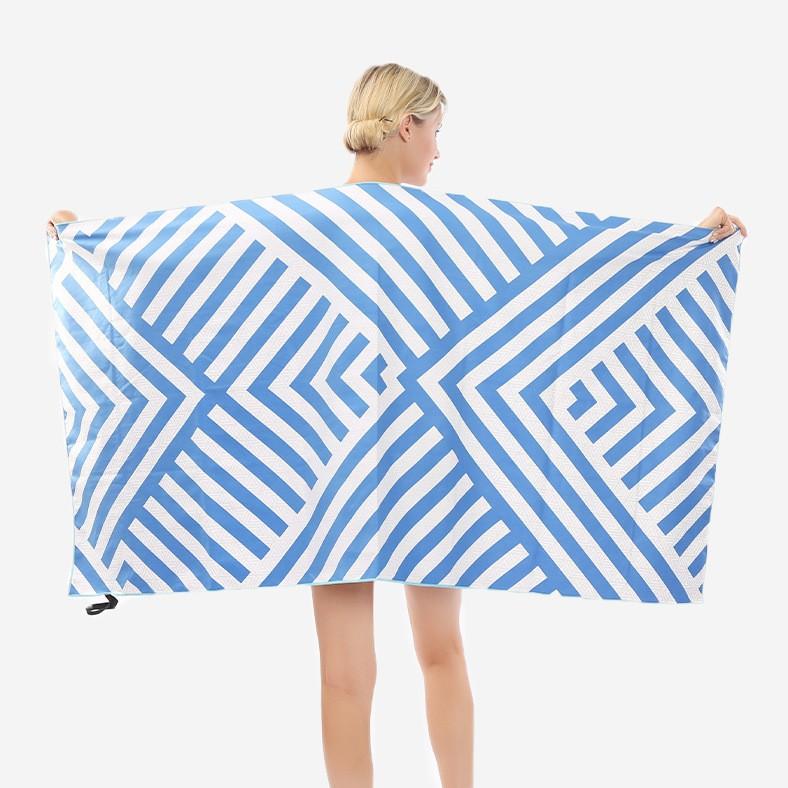 HGHENT Khăn bãi cát Khăn tắm biển hai mặt xu hướng in khăn tắm biển dành cho người lớn Khăn tắm hai