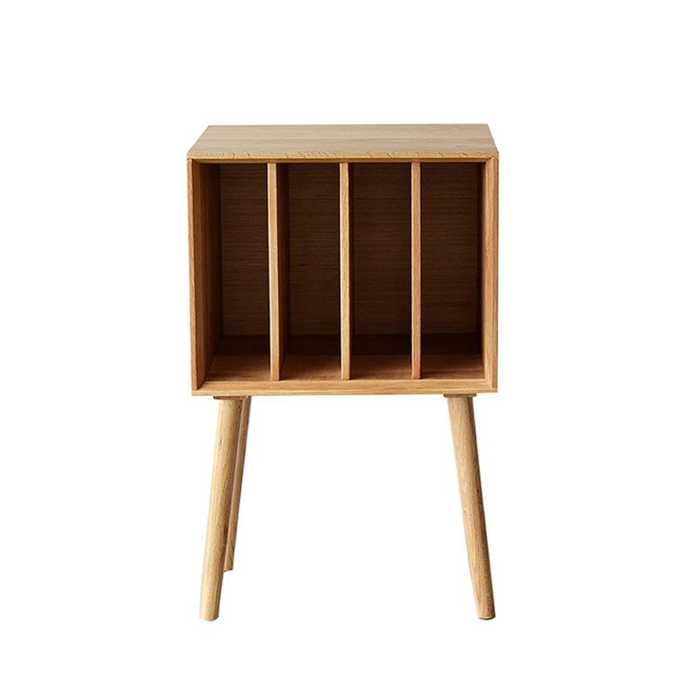 Nội thất gỗ sồi trắng Bắc Mỹ Phong cách Bắc Âu tủ sách gỗ rắn tủ tạp chí tủ khóa đơn giản căn hộ nhỏ