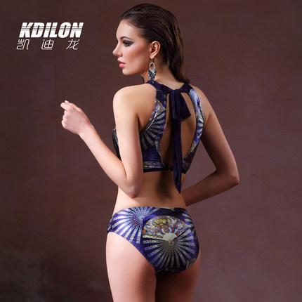 chống thấm nước  kdilon Kaidilong gợi cảm chia quần đi biển quần bơi nữ đã mỏng ba mảnh ngực nhỏ tụ